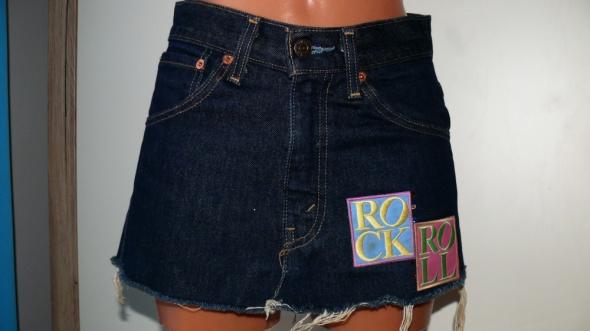 Szara jeansowa spódnica xss