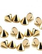 Ćwieki 6 mm stożki złote 50 szt...