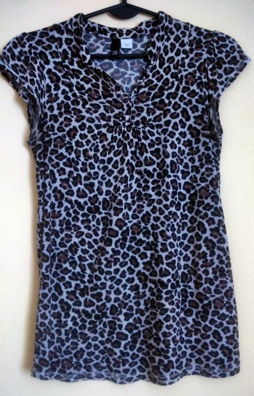 H&M piękna bluzka w panterkę 36