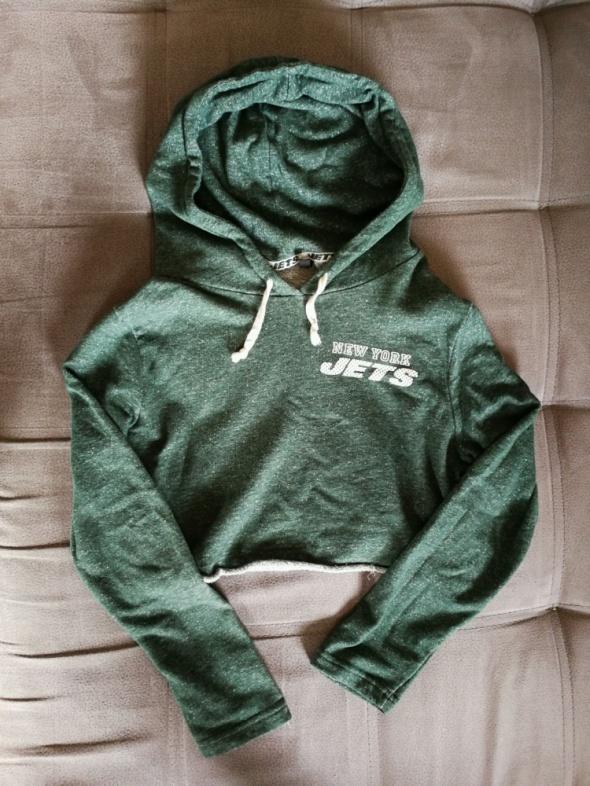 bluzka krótka h&m crop hoodie 34