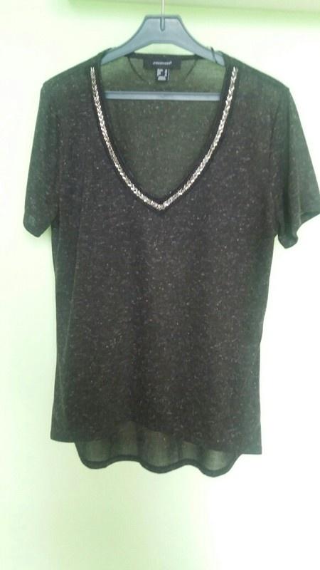 modna bluzeczka ozdobny dekolt lato
