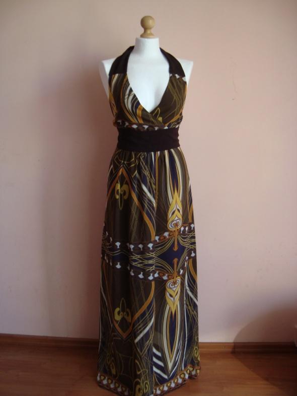 Śliczna delikatna letnia sukienka George maxi...