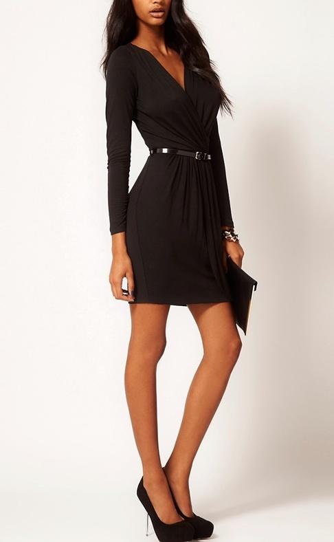 czarna sukienka Asos M L