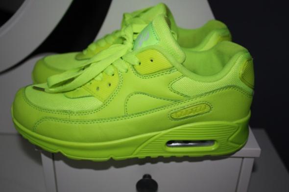 neon green yellow buty sportowe jak NIKE 38