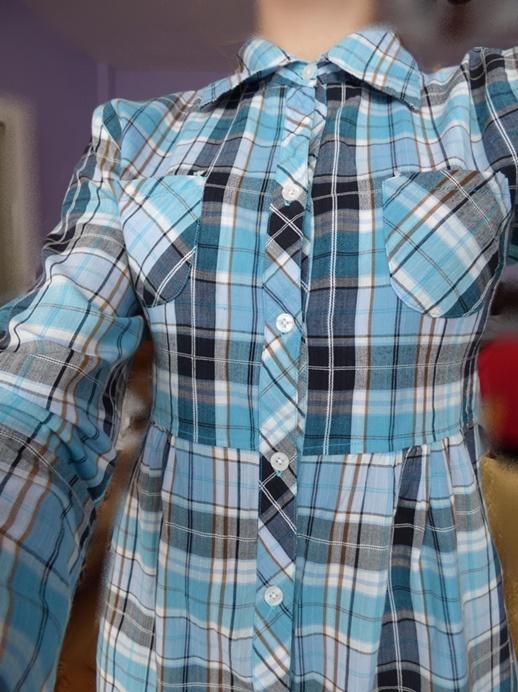 długa koszula w kratę