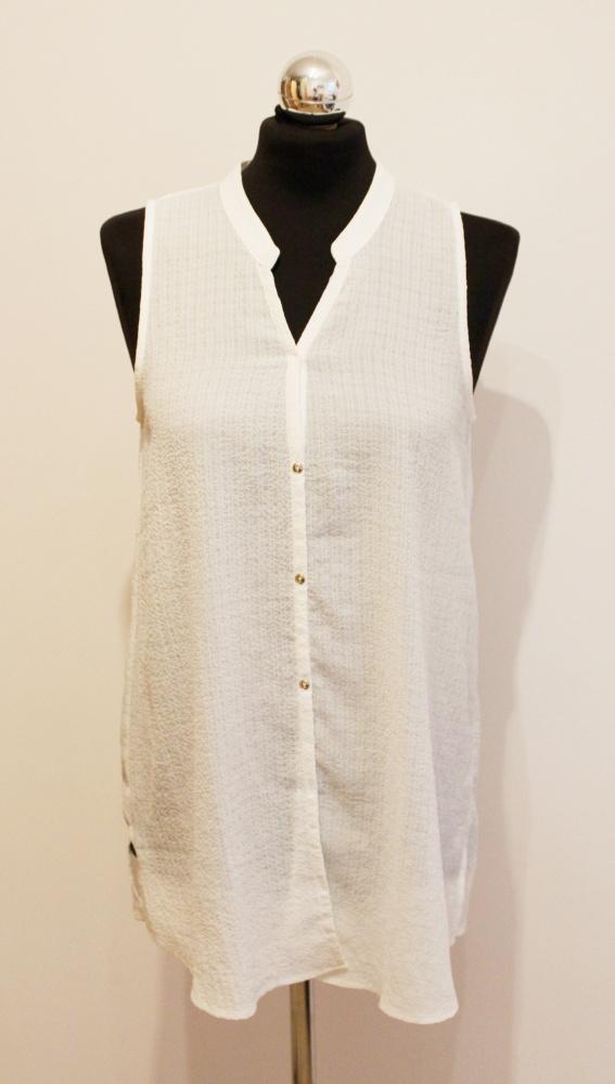 Biała asymetryczna bluzka Mango...