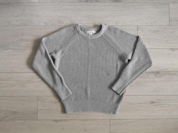 Sweter H&M ciepły szary błękitny baby blue M...