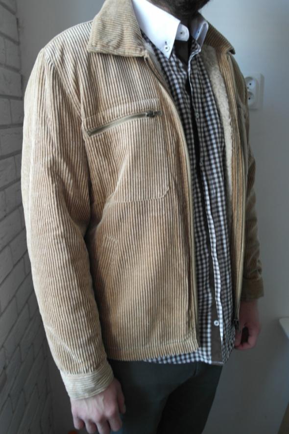 ZARA SPORT męska kurtka sztruksowa na baranku r M