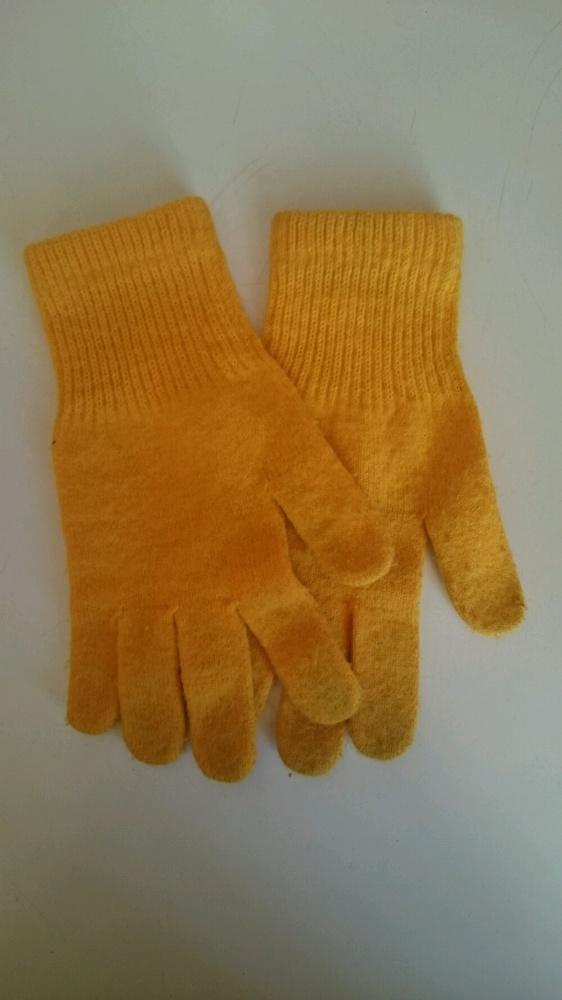 żółte rękawiczki