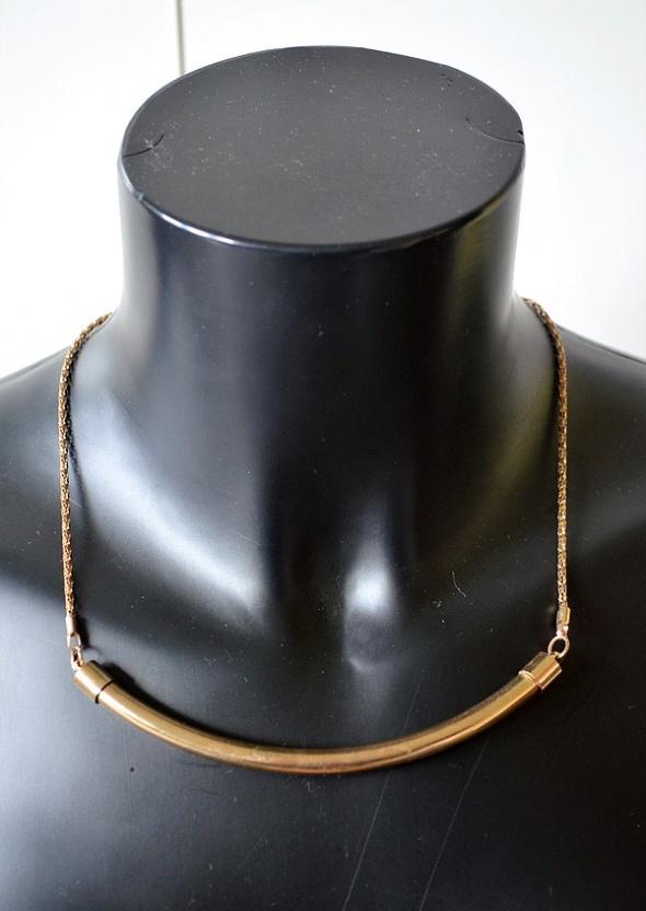 Złoty naszyjnik rurka