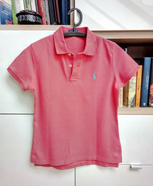 Koszulka polo Ralph Lauren oryginalny tshirt czerwony arbuzowy