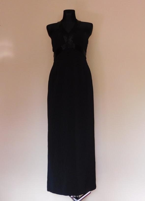 Next czarna sukienka sexy maxi 38...