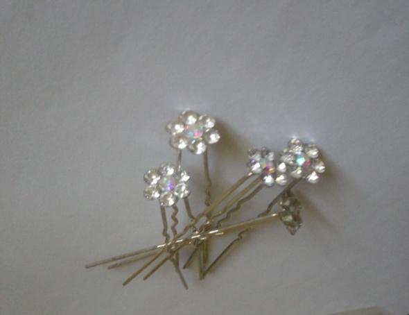 wsuwki szpilki do włosów kwiatek cyrkonie
