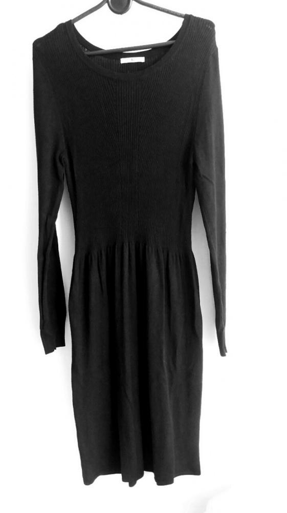 sukienka dzianinowa czarna 40 L tu