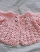sweterek 56 do 62 różowy rozpinany dziewczynki...