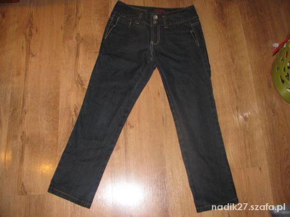 Granatowe jeansy Bik Bok roz S...