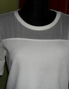 14 Grzeczna Biała bluzka z siateczką FandF
