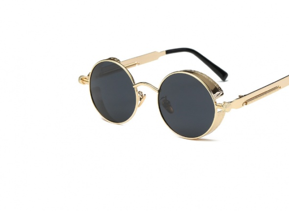 Gothic Steampunk okulary lustrzane goth punk