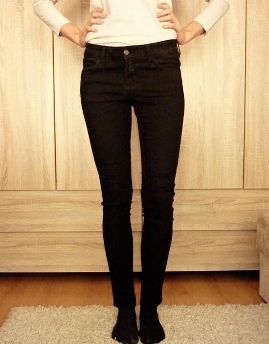 Spodnie czarne rurki h&m