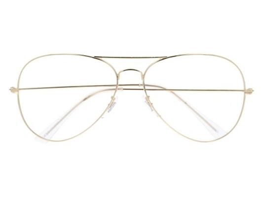 Okulary złote pilotkiaviator