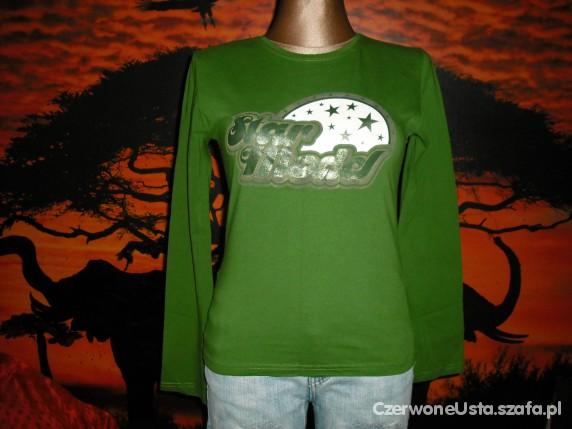 zielona bluzka...