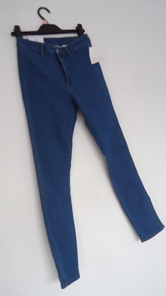 spodnie high waist H&M 27 skinny ankle