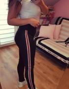 Spodnie Leginsy z Lampasami NOWE...