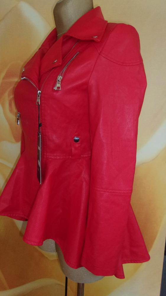 Super modna KURTKA M ecoskórka z zipami...