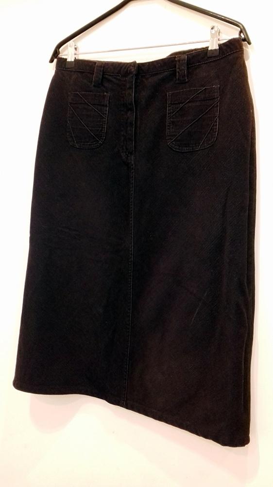 ciemno brązowa spódnica 42 ołówkowa Papaya