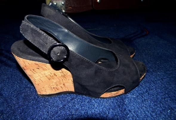Super sandały koturny jak NOWE