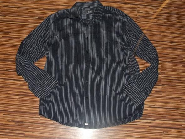 czarna koszula w paski Darmal rozmiar XL