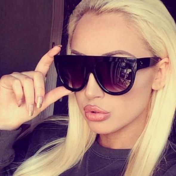 Okulary przeciwsłoneczne jak CELINE PARIS czarne oversize