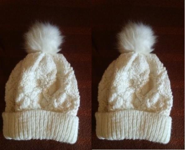 Biała czapka Orsay