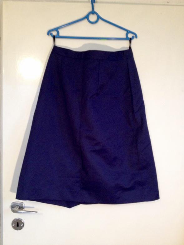 Granatowa spódnica od kompletu duże rozmiary XL L 40 42 używana...
