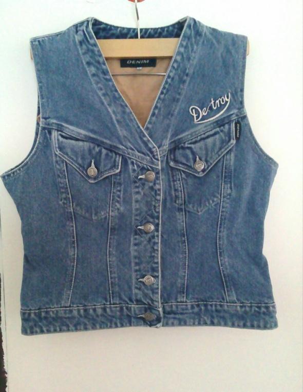 Kamizelka jeans bezrękawnik Denim 40 L