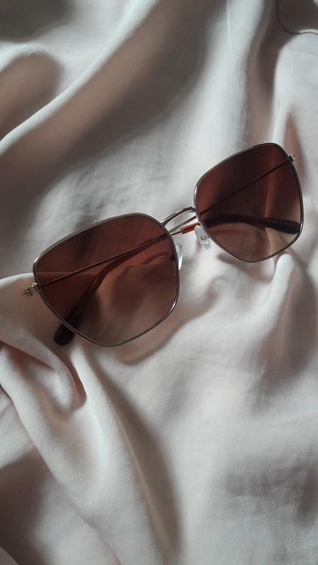 Brązowe okulary przeciwsłoneczne NY