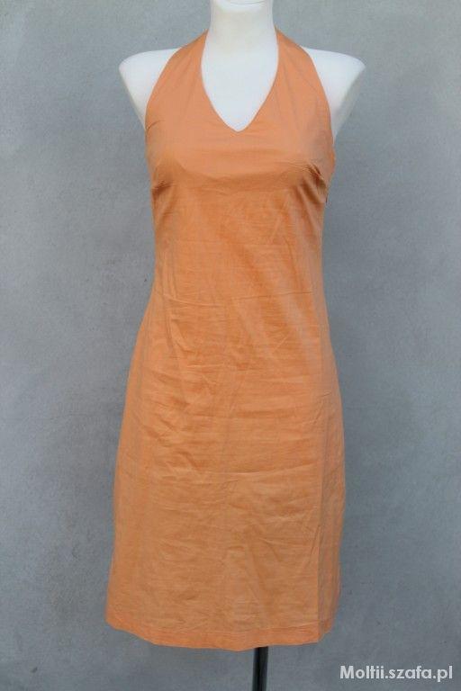 Suknie i sukienki letnia pomarańczowa sukienka