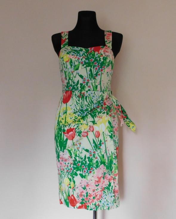H&M sukienka midi kwiaty 36...