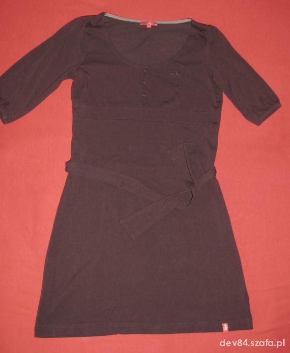 brązowa sukienka Esprit...
