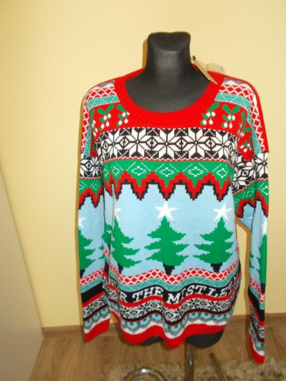 Nowy sweter świąteczny River Island L