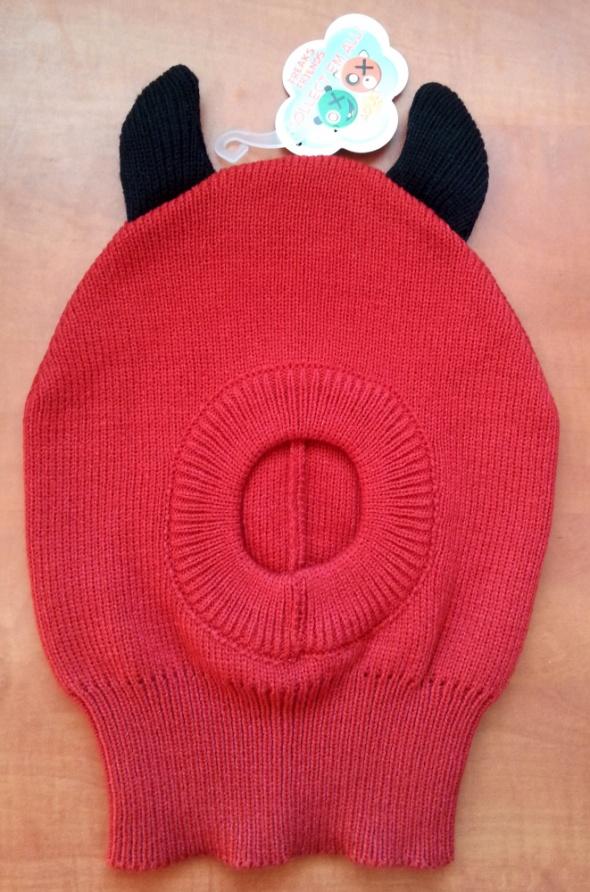 Nowa czapka kominiarka czerwony diabełek z rogami Freaks & Friends