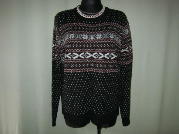 sweter w norweskie wzory XXL...