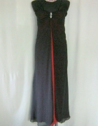 długa sukienka czarno bordowa xs...