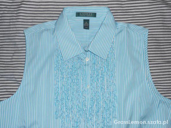 RALPH LAUREN koszula bezrękawnik miętowa
