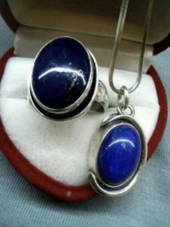 Zawieszka srebrna z lapis lazuli lazuryt
