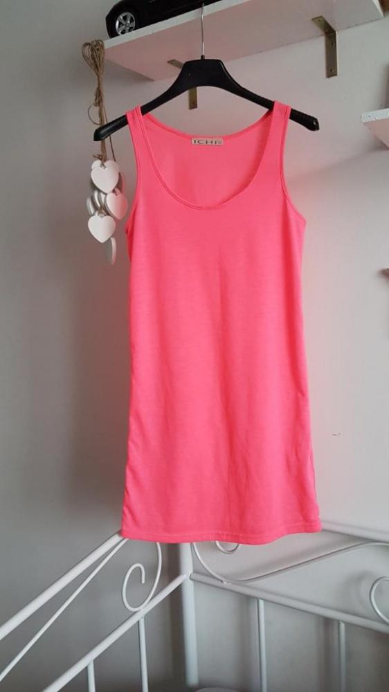 bokserka różowa neon pink long...