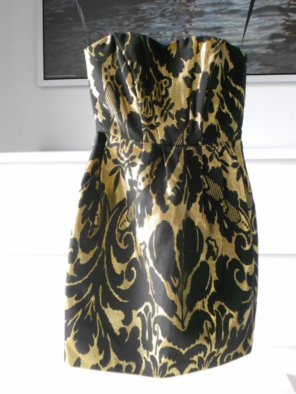 Żakardowa sukienka H&M roz 32 XXS