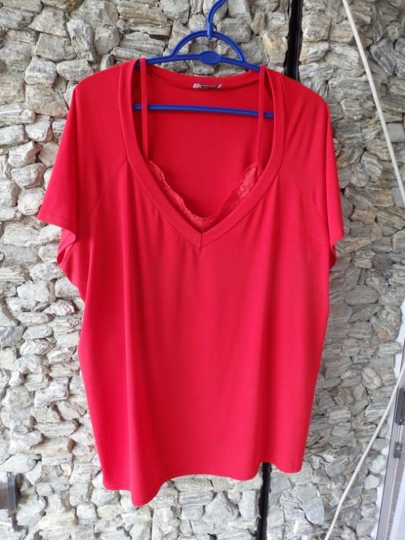 bluzeczka czerwona 48 50