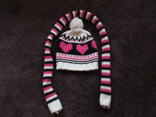 Ciepły komplet zimowy czapka i szalik