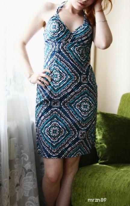 Letnia plażowa sukienka XS